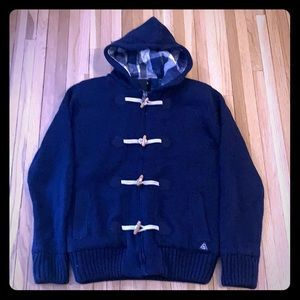 American Stitch Hooded Wood Toggle Sweater Jacket